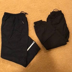 Bundle of two pairs of boys nylon sweat pants